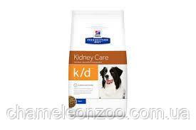 Hill's Prescription Diet k/d Kidney Care 2 кг -  корм для собак с почечной недостаточностю