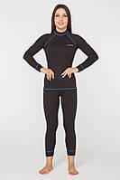 Термобелье повседневное женское Radical Rock S Черное с синим (r0432)