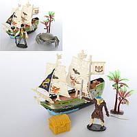 Набор пиратов 15998-1-2 (108шт) корабль15см, 2вида(фигурка/краб), в кульке, 20-22-4см