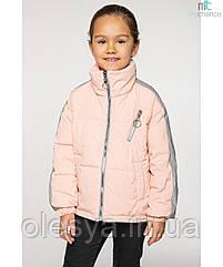 Демисезонная куртка для девочки Бэтти со светоотражающими лампасами р 134-164