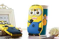 Резиновый 3D чехол для Samsung Galaxy Win Duos I8552 Миньон