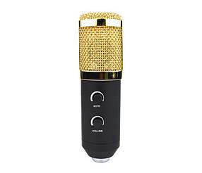 Микрофон студийный профессиональный BTB M-800U Черный с золотистым (R0214)