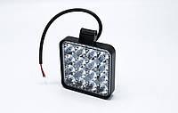 Светодиодная фара №10 FX- 48W 16LED ( Квадратная) Hi beam / 9-32v / 1шт, фото 1