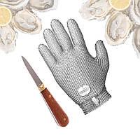 Набор устричный нож с перчаткой защитной из кольчуги