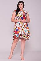 """Платье женское больших размеров в цветах """"ДЕЛАФЕР DONNA 6885"""""""