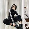 Тонкий свитер с лампасами на рукавах 42-46, фото 3