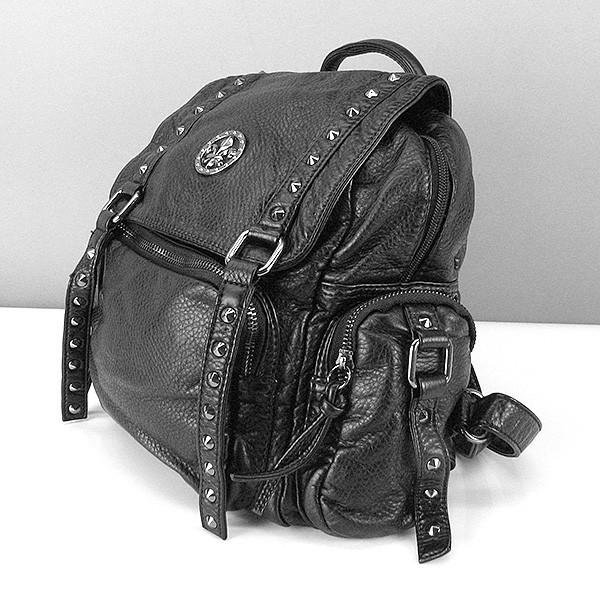 Рюкзак кожзам женский черный Dolphin 6411