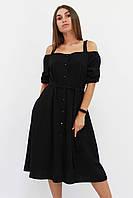 S, M, L / Зручне повсякденне плаття Francheska, чорний S (42-44)
