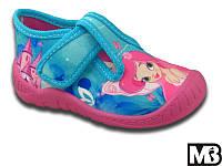 Детские тапочки MB (Польша) для девочки (мокасины, кеды, тапки, текстильная обувь)