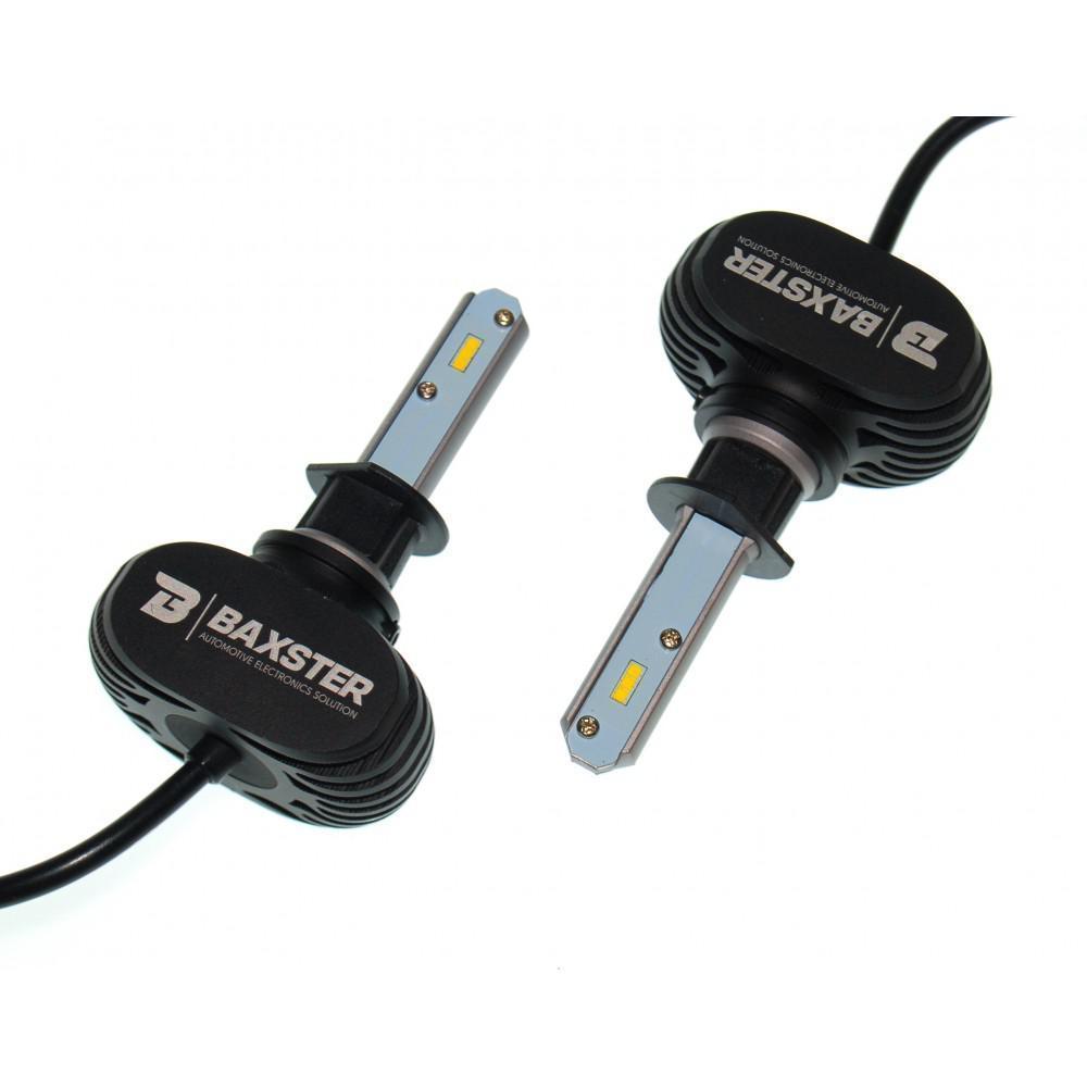 Комплект LED ламп BAXSTER S1 H1 6000K 4000lm с радиатором