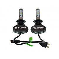 Комплект LED ламп BAXSTER S1 H7 6000K 4000lm с радиатором