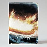 Обложка на паспорт v.1.0. Fisher Gifts 519 Планетное столкновение (эко-кожа)