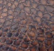 Пленка Hexis Brown (Франция) имитирующая кожу аллигатора коричневая (HX30ALMMIB) 1.37 m, фото 1