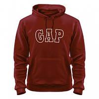 Толстовка кофта с капюшоном модная с надписью Gap