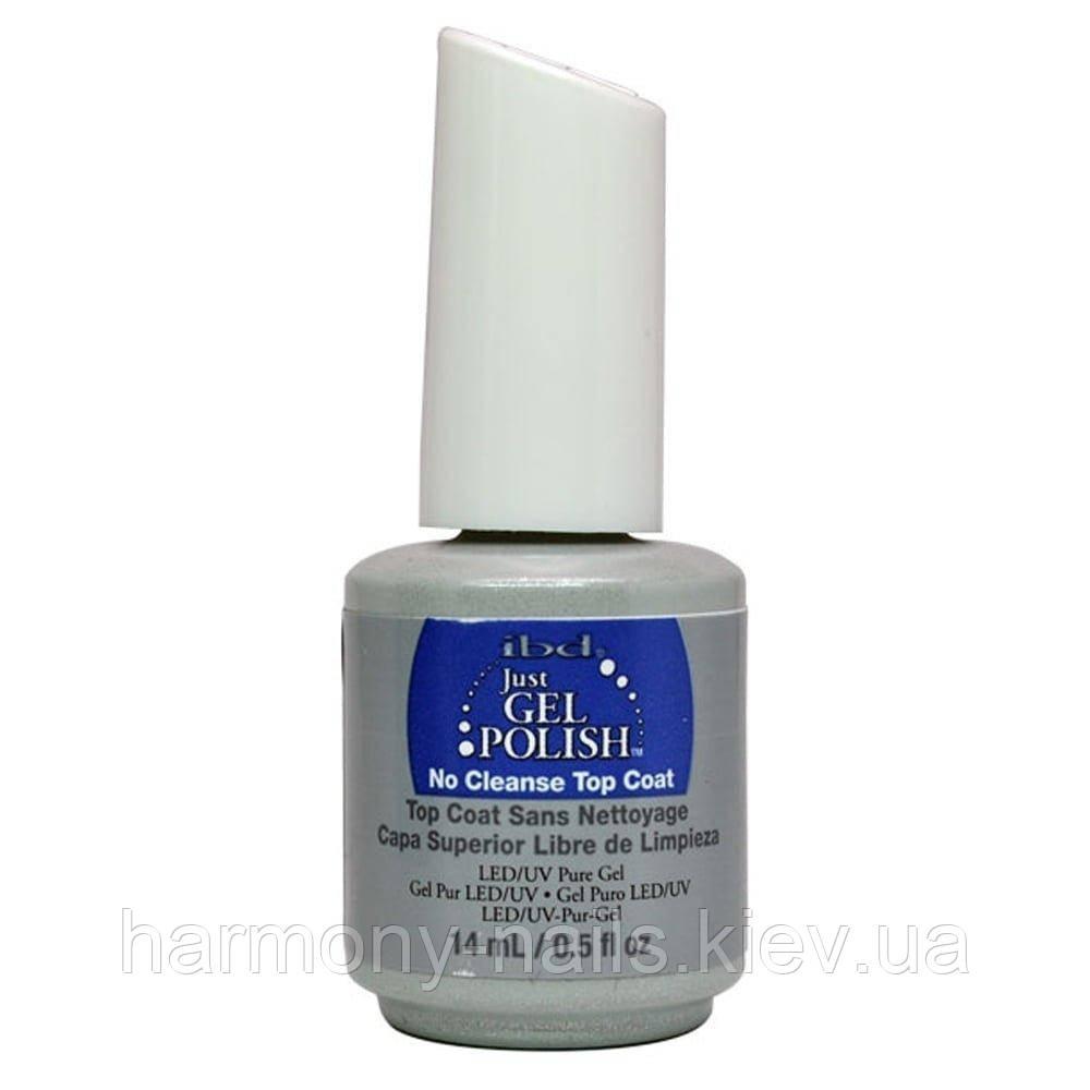 .ibd. Just Gel No Cleanse Top-Seal - фінішне покриття для гель-лаку без липкого шару, 14мл