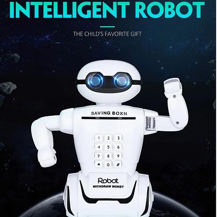 Электронная Копилка сейф Robot PIGGY BANK с кодовым замком, фонарем и музыкой, фото 2