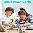 Электронная Копилка сейф Robot PIGGY BANK с кодовым замком, фонарем и музыкой, фото 6