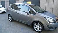 Дефлекторы боковых стекол Opel Meriva B 2011 (полная) (Опель Мерива Б) Cobra Tuning