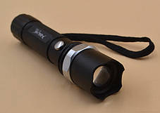 Ручной мощный фонарик с регулировкой фокуса с кейсом BL-T8628 (Реплика), фото 3