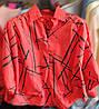 Слегка укороченная женская рубашка 44-50 (в расцветках), фото 3