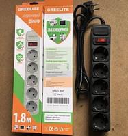 Сетевой Фильтр Питания GREELITE 5 Розеток 1.8 м. Удлинитель