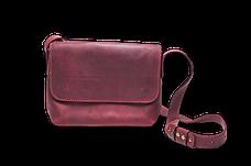 Кожаная сумка кросс-боди Cross женская бордовая, фото 2