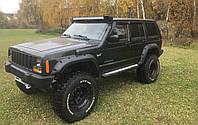 """Боковые дефлекторы Jeep Cherokee I (XJ) 1984-2001/Wagoneer (XJ) 1984-1990 деф.окон """"CT"""""""