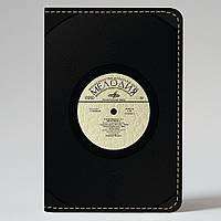 Обложка на автодокументы v.1.0. Fisher Gifts 219 Виниловая пластинка (эко-кожа)