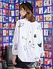 Хлопковая женская рубашка стильная 44-50 (в расцветках), фото 8