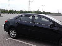 Ветровики Toyota Corolla Sd 2013 (Тойота Королла) Cobra Tuning