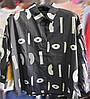 Оверсайз женская рубашка хлопковая 44-48 (в расцветках), фото 2