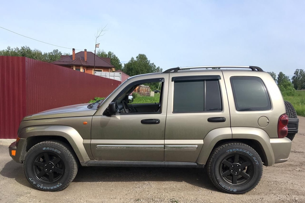 "Боковые дефлекторы Jeep Cherokee II (KJ) 2001-2007/Liberty (KJ) 2002-2005 деф.окон ""CT"""
