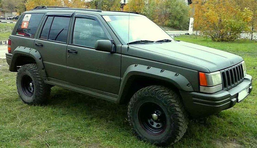 """Боковые дефлекторы Jeep Grand Cherokee I (ZJ) 1991-1999 деф.окон """"CT"""""""