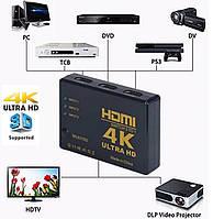 Разветвитель Splitter 3 Port HDM Switch 1080p HDMI до 4K 3 Порта Сплиттер Переходник Свитч 3 входа,1 выход