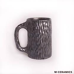 """Керамическая чашка ручной работы M.CERAMICS """"металл"""""""
