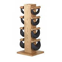 Swing стойка из ясеня с гантелями 1-2-4-6 кг