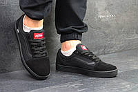 Мужские кеды Vans Old Skool (реплика), бордовые (4231)