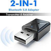 2 в 1 Bluetooth V5.0 KN-320 Аудио Передатчик и Приемник (Transmitter+Receiver) Адаптер