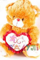Мягкая игрушка музыкальная Медвежонок с сердцем