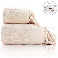 Мягкое полотенце из 100 хлопка Sikel Sezar, Кремовый, 50х90