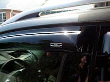 Дефлекторы окон (ветровики) Mazda CX-7 2006-2009 5дв  Хром молдинг