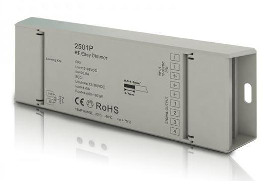 Диммер-LED контролер-прийомник 12-36вольт 240-720Вт 4 канала SR-2501P SUNRICHER 9422