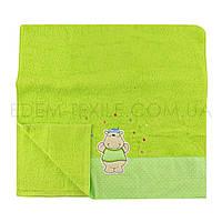 Мягкое полотенце из махры для детей Бегемотик, Салатовый, 50х90