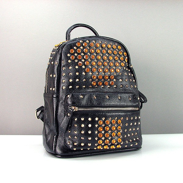 Рюкзак кожзам женский черный Farfalla Rosso 91100