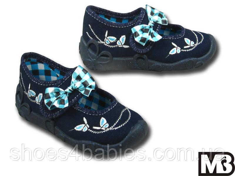 Детские текстильные туфельки для девочки MB Польша р. 23 - 14,5см