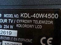 Платы от LCD TV Sony KDL-40W4500