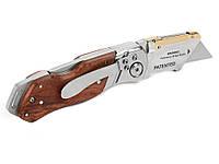 Нож Workpro карманный складной с деревянной ручкой с лезвиями 10 шт
