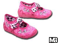 Детские тапочки для девочки MB Польша (мокасины, тапки, текстильная обувь)