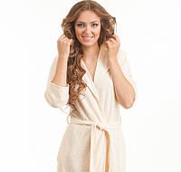 Бамбуковый халат с капюшоном  Boncasa Hoody размер M