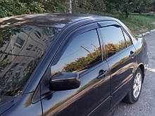 Дефлекторы боковых стекол Mitsubishi Lancer Sd 2003-2006 (Митсубиси Лансер) Cobra Tuning